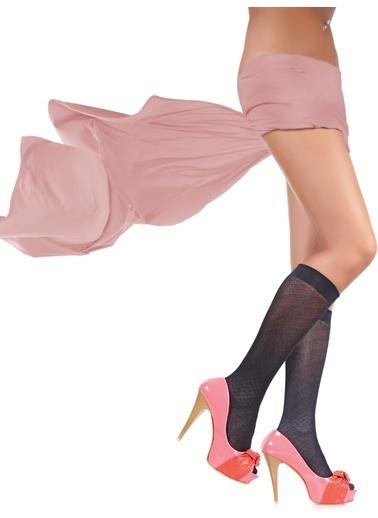 U.S.Polo Assn. 3'Lü Desenli Dizaltı Çorap Siyah